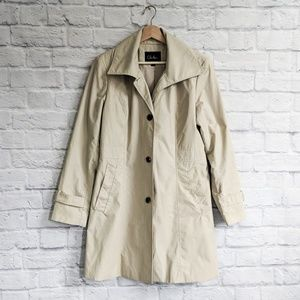 Cole Haan Cotton Trench Coat Jacket in Tan